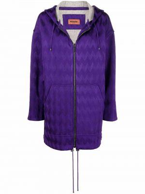 Полупальто с капюшоном - фиолетовое Missoni