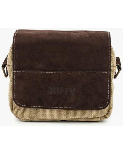 Сумка через плечо из канваса из нубука Duffy