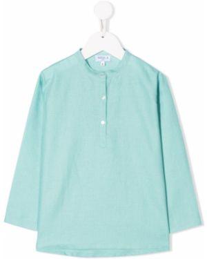 Синяя с рукавами рубашка с воротником Siola