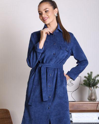 С рукавами платье с поясом для офиса Ellcora