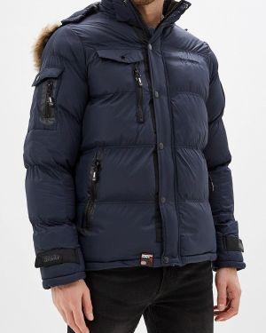 Утепленная куртка демисезонная синяя Geographical Norway