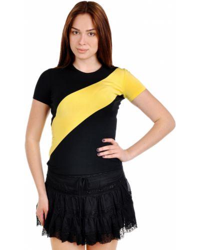 Черная футболка из вискозы Ralph Lauren