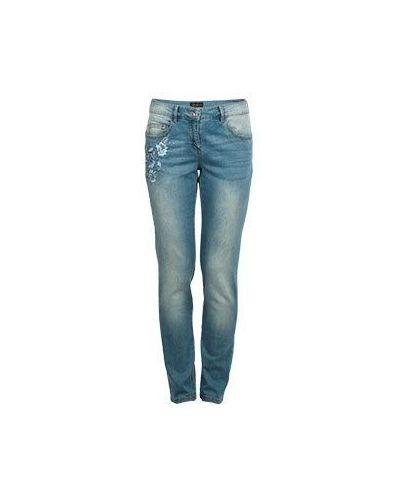 Голубые джинсовые зауженные джинсы Luisa Spagnoli