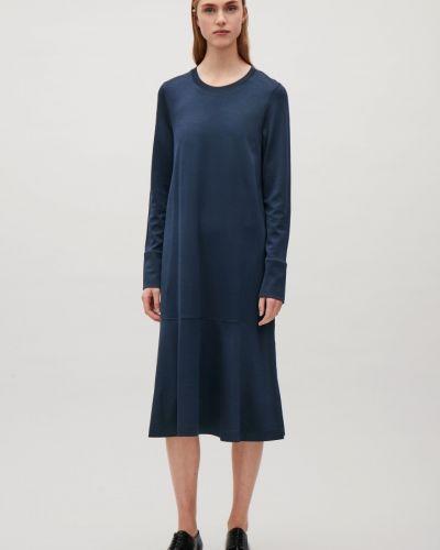 Платье удлиненное - синее Cos