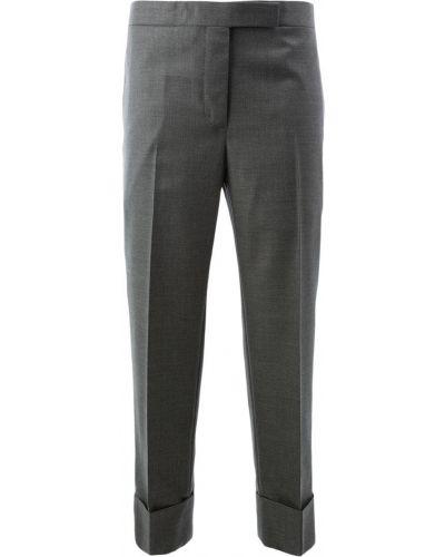 Укороченные брюки брюки-сигареты шерстяные Thom Browne