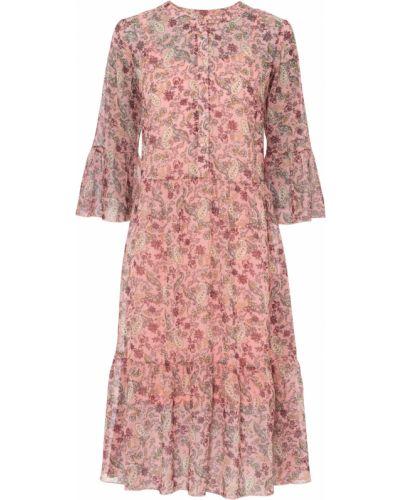 Розовое шифоновое платье Bonprix