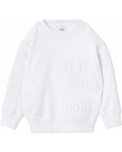 Biała bluza z printem Burberry Kids