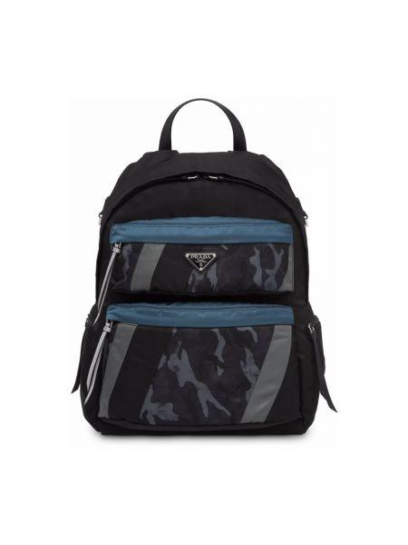 Niebieski plecak casual Prada
