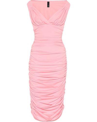 Платье миди розовое стрейч Norma Kamali