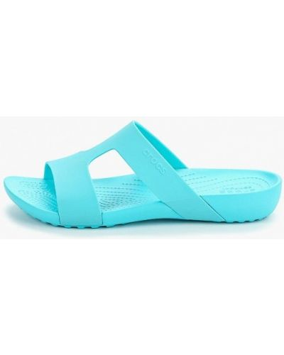 Сланцы пляжные голубой Crocs