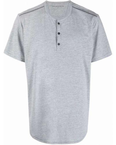 Niebieski t-shirt krótki rękaw bawełniany John Varvatos