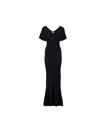 Вечернее платье из вискозы - черное Roberto Cavalli