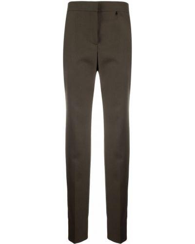 Spodnie z wysokim stanem - zielone Givenchy