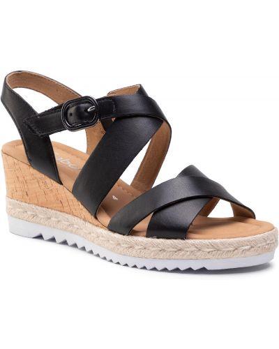 Sandały espadryle - czarne Gabor