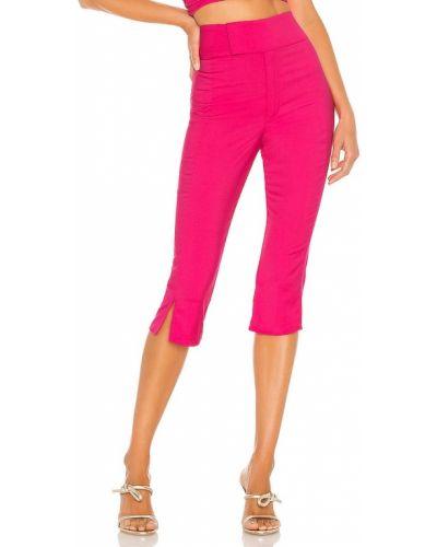 Włókienniczy markowe światło spodnie capri fuksja Lovers + Friends