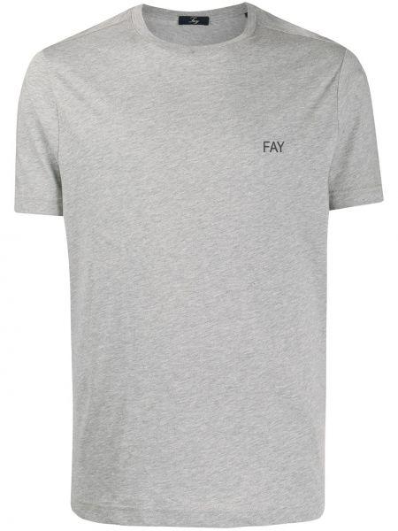 Koszula krótkie z krótkim rękawem prosto z logo Fay