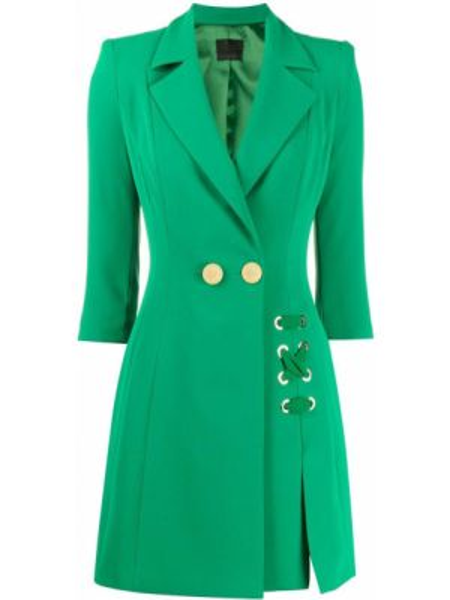 Пальто классическое зеленое пальто Elisabetta Franchi