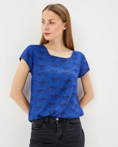 Блузка с открытыми плечами синяя весенний Jacqueline De Yong