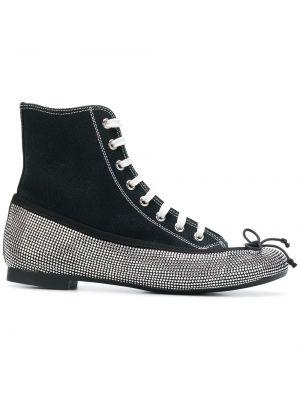 Skórzane sneakersy czarne Marco De Vincenzo