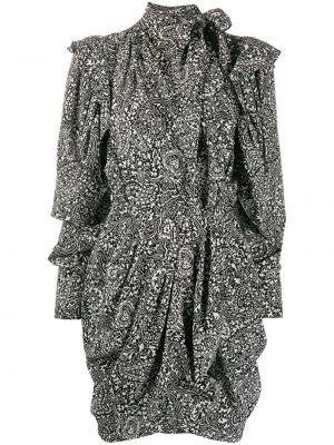 Платье мини с вырезом - черное Isabel Marant
