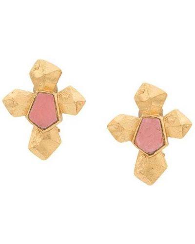 Розовые серьги-гвоздики Christian Lacroix Pre-owned
