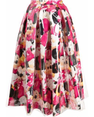 Микки маус розовая плиссированная юбка Comme Des Garçons