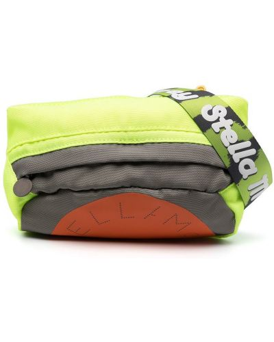 Зеленая сумка на плечо на молнии с перфорацией Stella Mccartney Kids