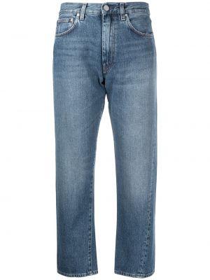 Bawełna bawełna niebieski jeansy do kostek z paskiem Toteme