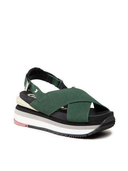 Zielone sandały zamszowe Gioseppo