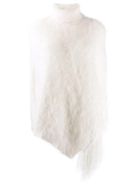 Пончо вязаное белый Fabiana Filippi