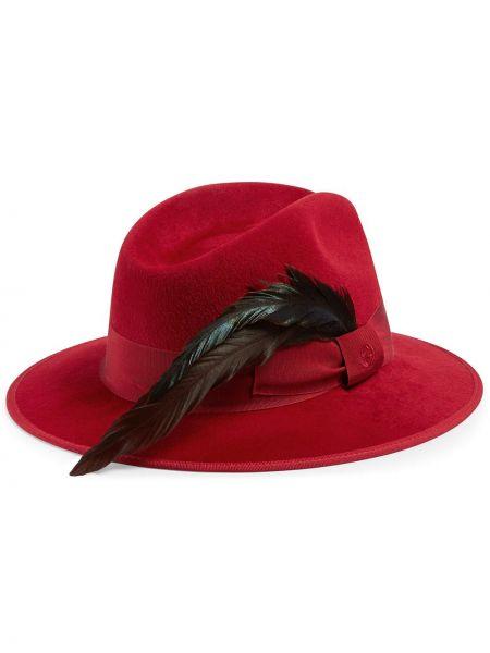 Wełniany kapelusz fedora okrągły Gucci