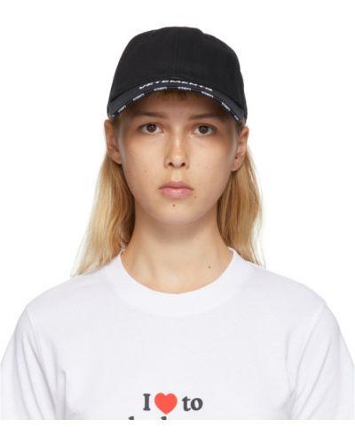 Z paskiem bawełna bawełna czapka z haftem Vetements