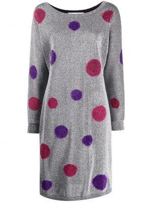 Свободное серое платье винтажное свободного кроя Christian Dior