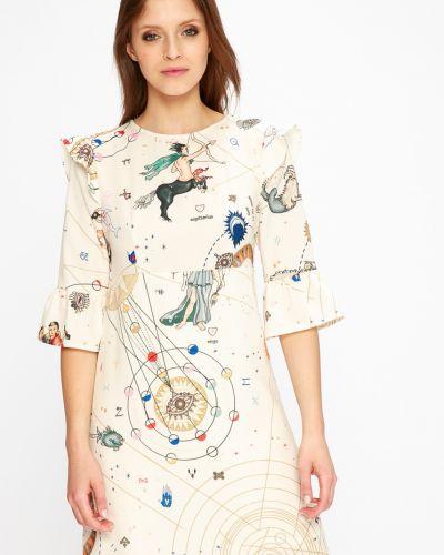 Платье мини прямое с оборками сетчатое Silvian Heach