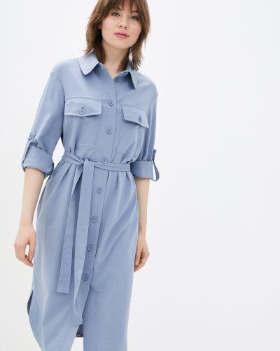Платье рубашка - голубое Danna