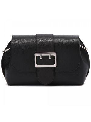 Черная кожаная сумка Fabi