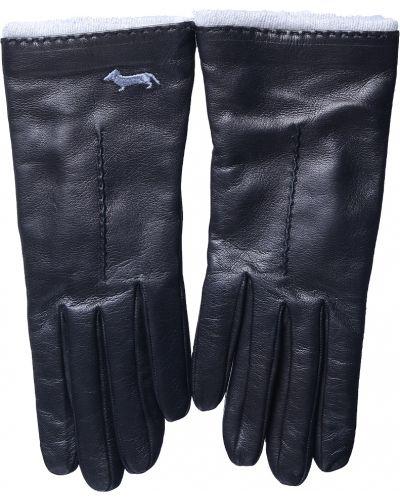 Кожаные перчатки черные Harmont&blaine
