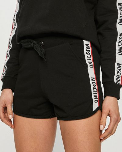 Czarne szorty dzianinowe na co dzień Moschino Underwear