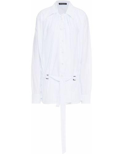 Biała koszula bawełniana z paskiem Ann Demeulemeester