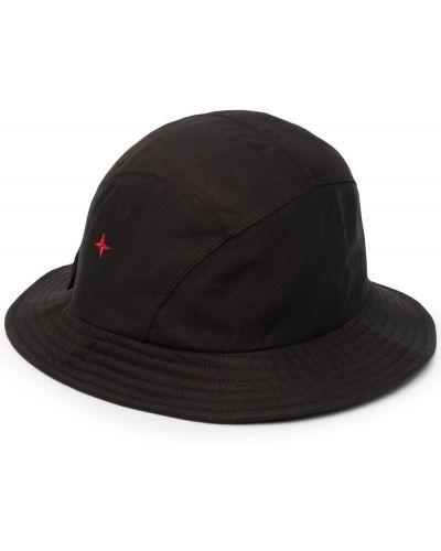 Хлопковые черные шляпа с широкими полями с вышивкой Stone Island