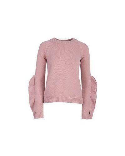 Розовая шерстяная джемпер Valentino Red