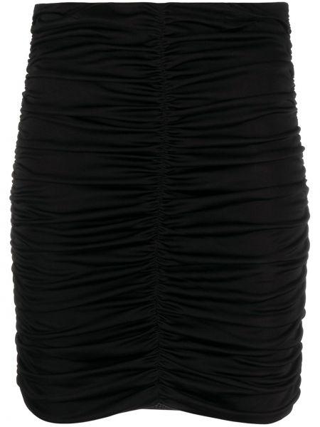 Шелковая черная с завышенной талией юбка мини Isabel Marant