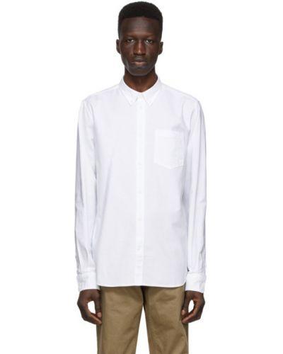 Biała koszula oxford bawełniana z długimi rękawami Norse Projects