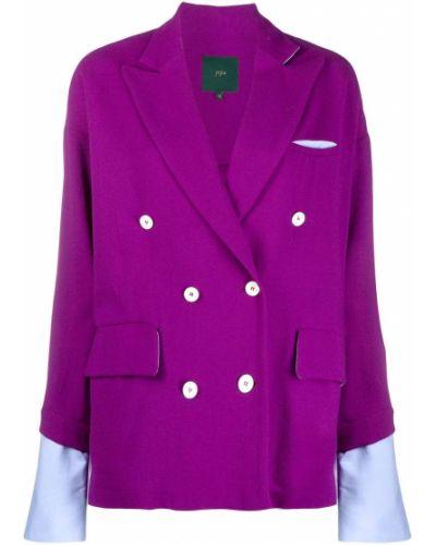 Шерстяной классический пиджак двубортный с карманами Jejia