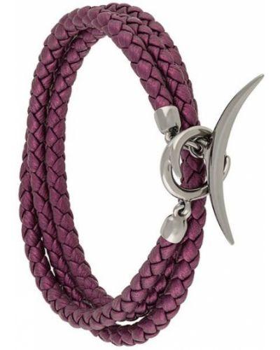 Домашний малиновый кожаный браслет Shaun Leane