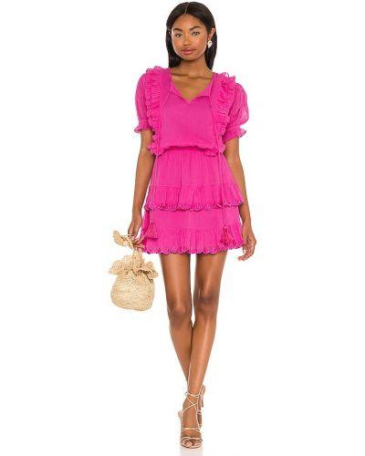 Розовое платье мини с декольте с подкладкой Karina Grimaldi