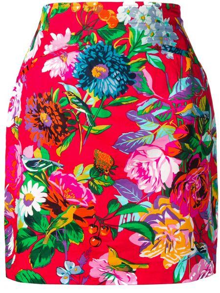 Красная приталенная юбка мини винтажная с карманами Kenzo Pre-owned