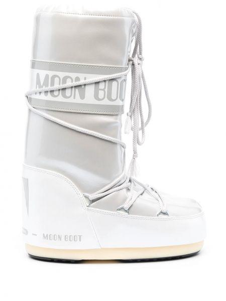 Водонепроницаемые серые сапоги на шнуровке Moon Boot