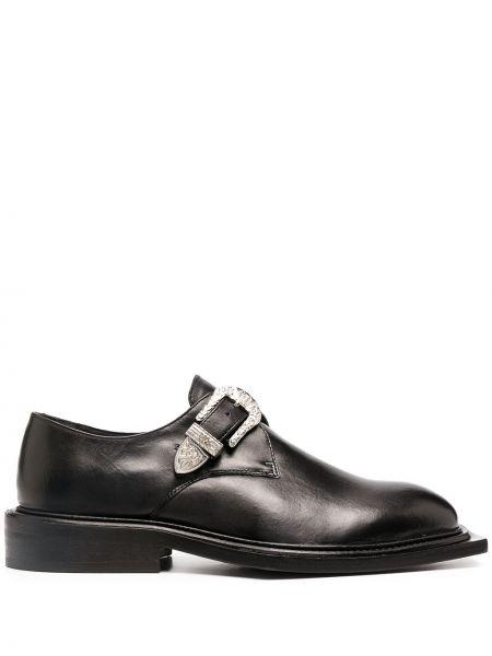 Skórzany czarny loafers z klamrą Martine Rose