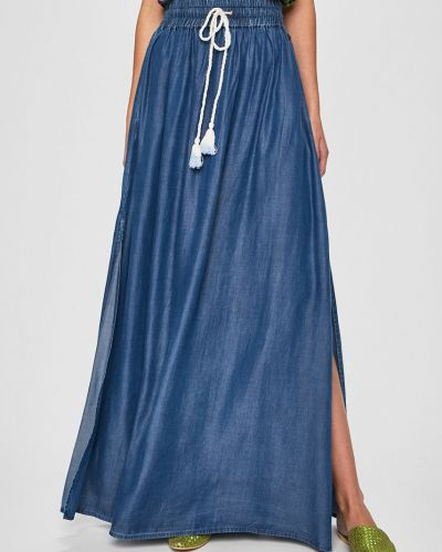 Джинсовая юбка макси на резинке Answear